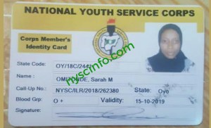 How to replace lost nysc Id card