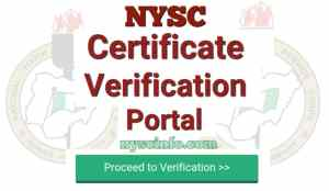 Nysc certificate number Verification