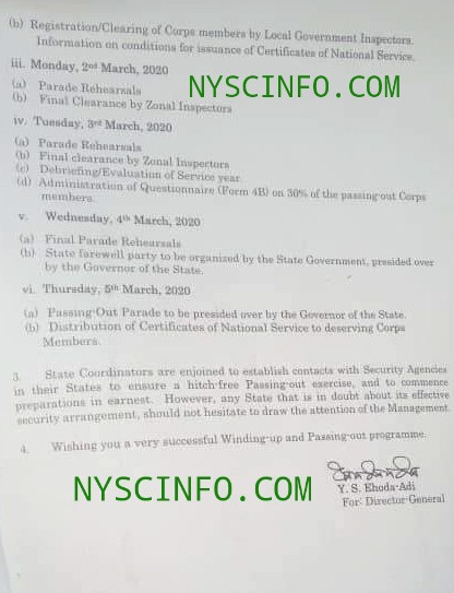 NYSC officially announces 2019 Batch 'A' POP date