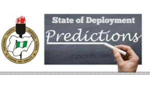 NYSC State Of Deployment Prediction