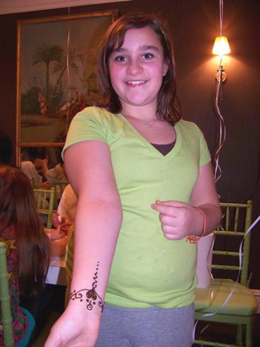 Birthday Girl and her Henna Design!