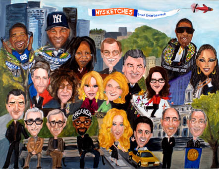 'Notable New Yorkers' Event Mural