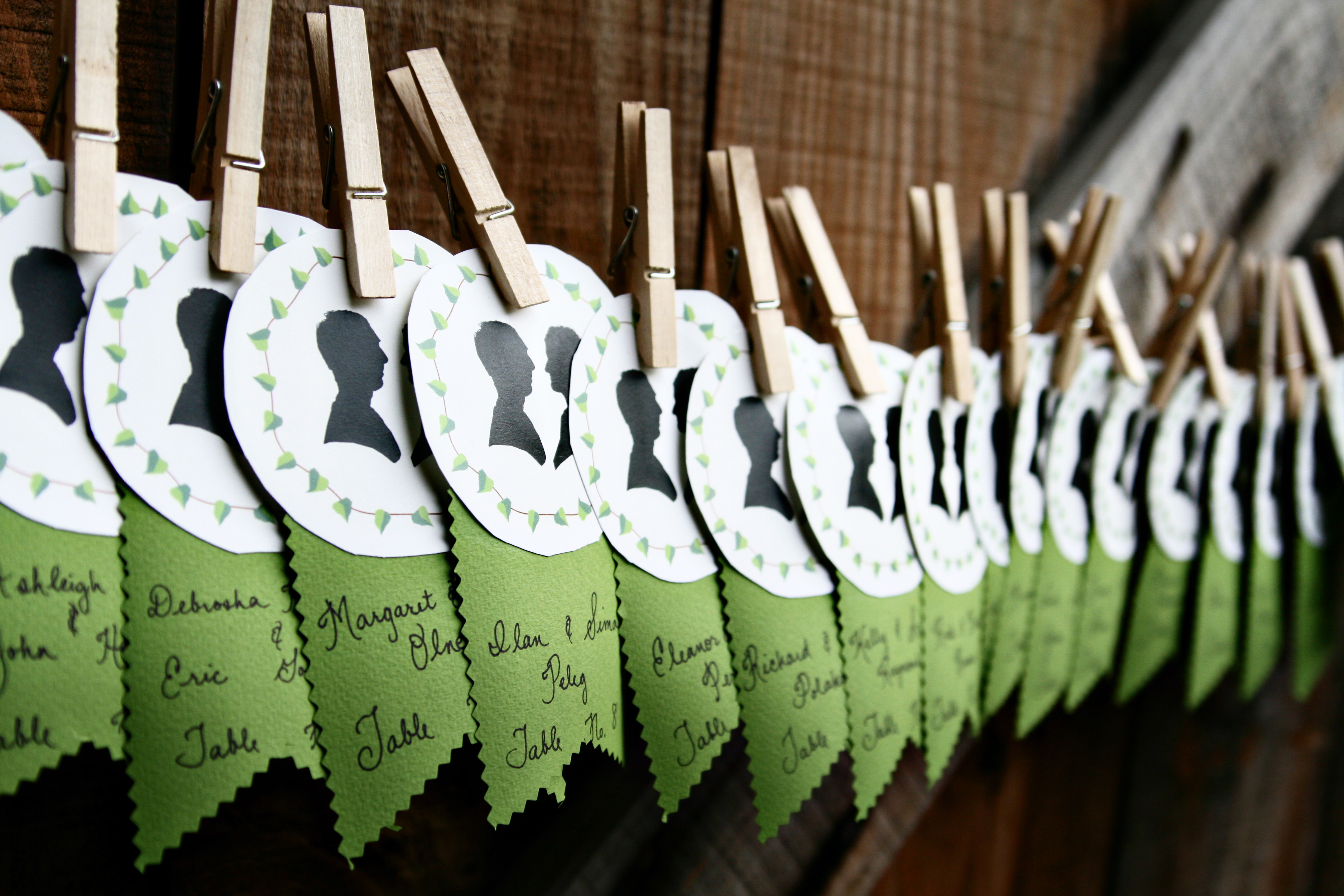 Custom Silhouette Place Cards