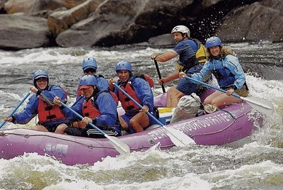 Governor Paterson rafting