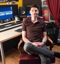 andrew gabriel sits for a picture in front of his desk it s the hub of his music studio the tools of his trade sit upon its surface in precise symmetry  [ 1200 x 797 Pixel ]