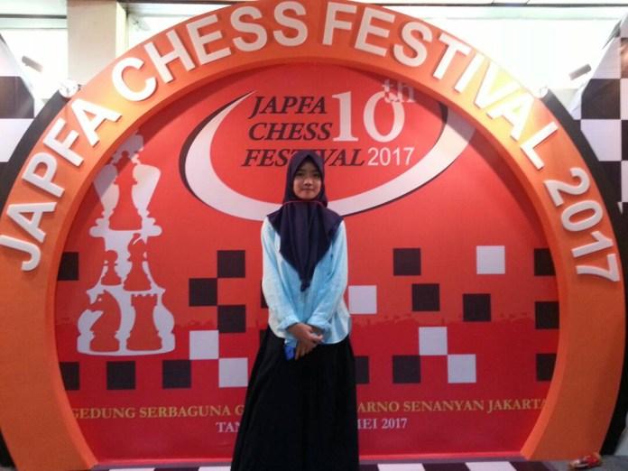 Nadine saat mengikuti JAPFA Chess Festival 2017