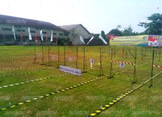 Lapangan olahraga menembak di sekolah Al-Zahra yang akan dicanangkan untuk menjadi lapangan menembak permanen