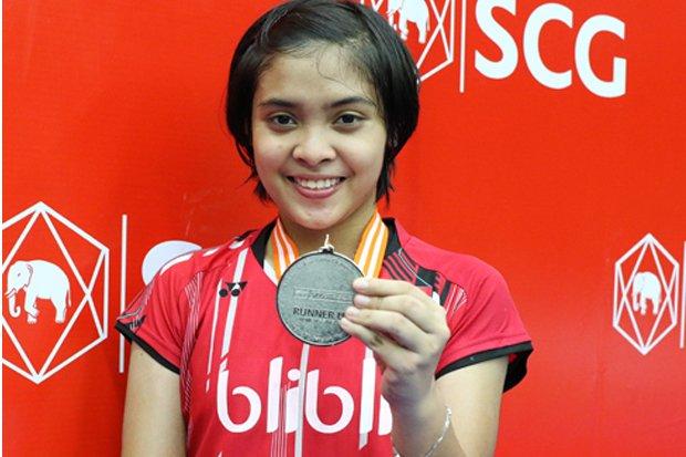 Gregoria Mariska Tanjung berhasil mencetak sejarah untuk tunggal putri Indonesia di Asia Junior Championships 2016. Foto : SindoNews