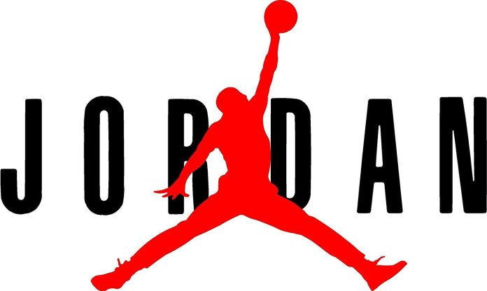 Logo sepatu Air Jordan yang diproduksi oleh Nike