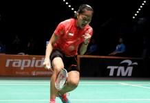 Fitriani turut andil saat tim Indonesia menundukkan tim China 3-2 dalam even Badminton Asia Team Championship 2018. (net)