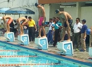 Cabang olahraga renang dalam event O2SN Tingkat Provinsi DKI Jakarta. (disdik DKI)