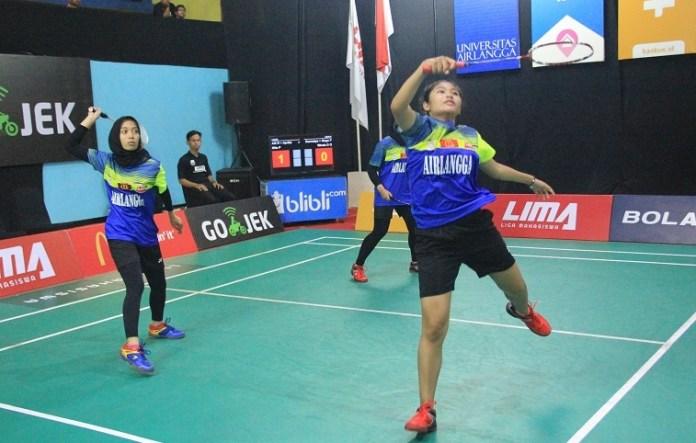 Tim Beregu Putri Universitas Airlangga (Unair) akhirnya sukses merebut poin perdana. (LIMA)