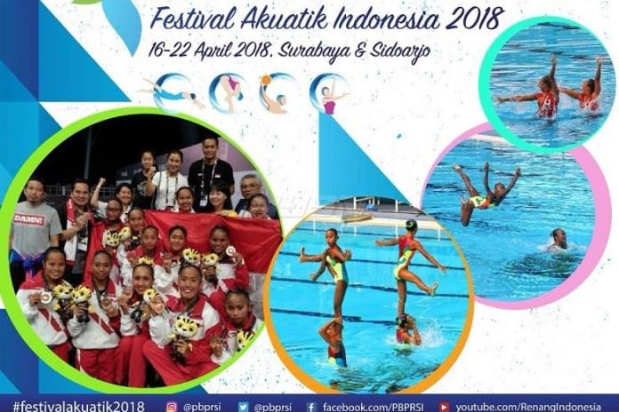 Festival Akuatik Indonesia 2018 akan digelar mulai 16 - 22 April di Surabaya dan Sidoarjo, Jawa Timur. (instagram)