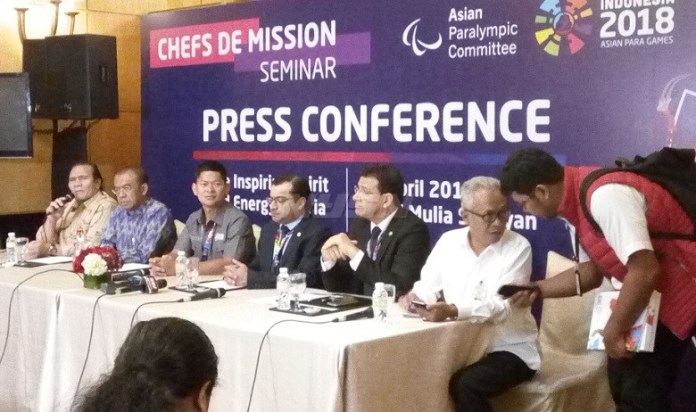 INAPGOC gelar Chefs de Mission Seminar Asian Para Games 2018, di Kawasan Senayan, Jakarta, selama dua hari. (Adt/NYSN)