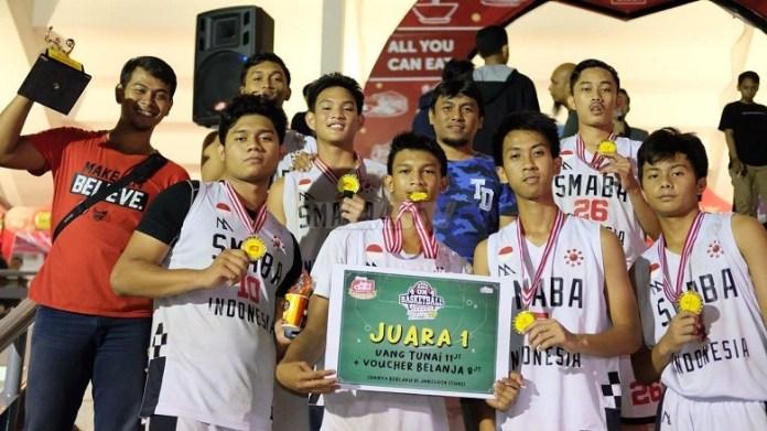 Juarai Kejuaraan Bola Basket 4x4 Piala Wakil Gubernur (Wagub) DKI Jakarta 2018, SMABA Siap berangat ke Paris, Perancis. (dok.Kharisma Bangsa)