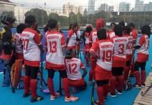 Atlet Hoki Indonesia tengah melakukan pemusatan latihan nasional, jelang bergulirnya Asian Games 2018, pada Agustus-September mendatang.(Adt/NYSN)