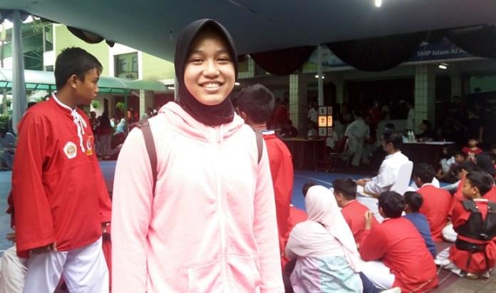 Pesilat Ratu Febia Tanama Muthi berharap masuk Pelatnas membela Merah Putih di turnamen internasional. (Adt/NYSN)