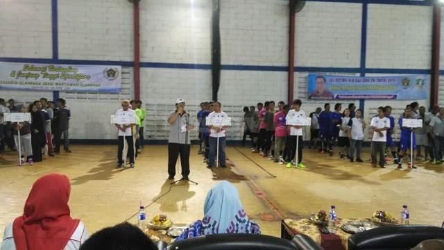 Seksi Wartawan Olahraga (SIWO) Provinsi Banten menggelar pekan olahraga wartawan Banten (Porwaban), di Lapangan Radar Arena, Kota Serang, Senin (23/4). (mitrapol.com)