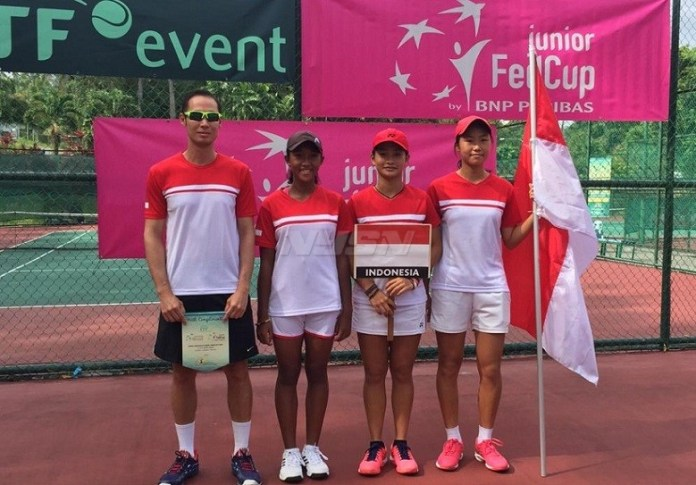 Tim putri Indonesia bakal meladeni Australia di Final Piala Fed Junior 2018., pada Sabtu (21-4), di Khucing, Malaysia. (net)