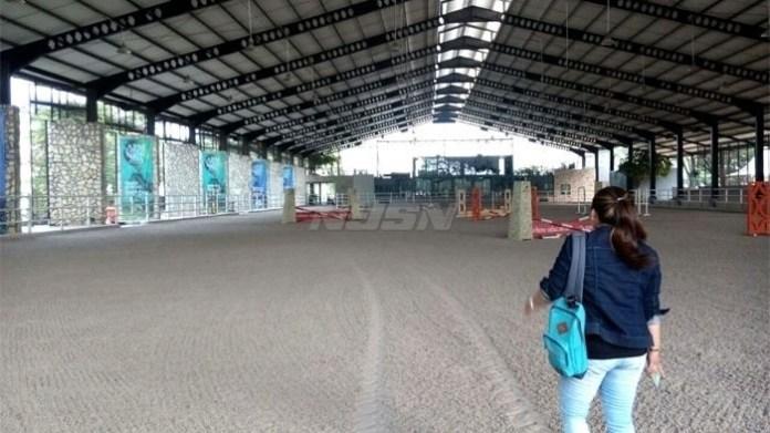 Lapangan tertutup berukuran 80 x 40 meter di area SMA Adria Pratama Mulya, Tangerang, yang akan dijadikan venue Asian Games 2018. (tribunnews.com)