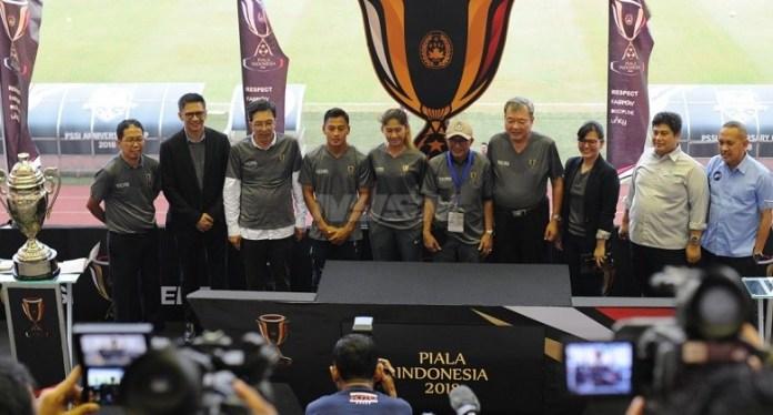 PSSI menggelar drawing Piala Indonesia 2018, di Stadion Pakansari, Cibinong, Bogor, Kamis (3/5). (Pras/NYSN)