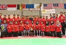 Timnas Pencak Silat Indonesia mengikuti kompetisi Open Belgium Pencak Silat ke-23 awal Mei 2018 dan menyabet 6 medali emas. (net)