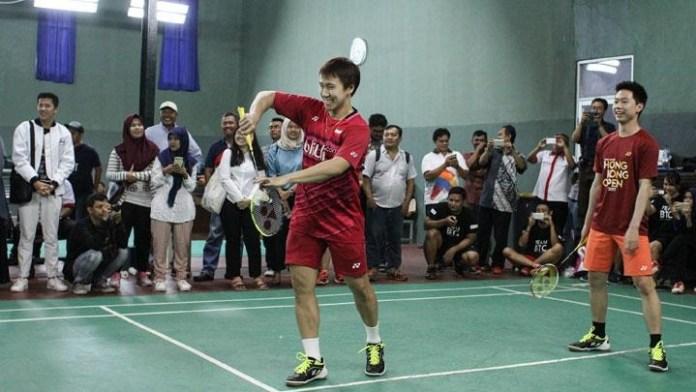 Pebulutangkis ganda putra andalan Indonesia Marcus Gideon dan Kevin Sanjaya mulai berlatih pada Senin (18/6) jelang persiapan Asian Games 2018. (tempo)