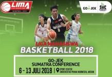 Event kompetisi bola basket antarmahasiswa LIMA Basketball: Go-Jek Sumatra Conference (SMC) 2018 region Sumatra, mulai berlangsung pekan ini mulai 6-13 Juli. (LIMA)