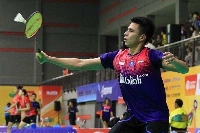 Ikhsan Leonardo Imanuel Rumbay meski memenangkan laga, namun Tim junior Indonesia akhirnya harus kalah dari China 1-3 dan terhenti di babak empat besar. (Humas PBSI)