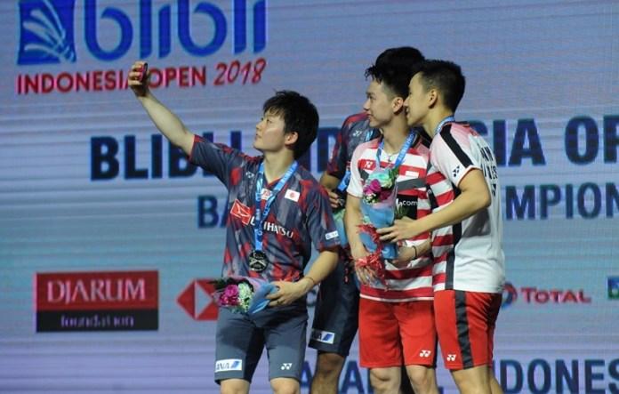 Selain Tontowi Ahmad/Liliyana Natsir, Indonesia juga meraih gelar juara Blibli Indonesia Open 2018 HSBC BWF World Tour Super 1000, lewat duet ganda putra Kevin Sanjaya Sukamuljo/Marcus Fernaldi Gideon. (Pras/NYSN)