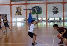 Tim basket putra Sekolah Kharisma Bangsa gelar latih tanding jelang kejuaraan dunia basket antar SMA di Paris, Prancis, 6-13 Juli 2018. (Adt/NYSN)