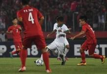 Winger Timnas U-16, Mochammad Supriadi (11), saat berakselerasi dalam laga Piala AFF U-16 2018 kontra Vietnam di Stadion Gelora Delta, Sidoarjo, Jawa Timur, Kamis (2/8). (medcom.id)