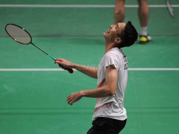 Jonathan Christie saat bertanding di ajang Asian Games 2018, Agustus silam (Prass/NYSN)