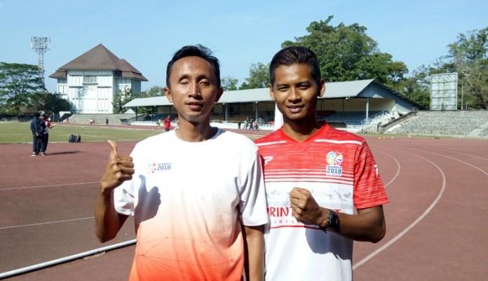 Abdul Halim Dalimunthe (kiri), atlet para atletik optimistis meraih medali emas di nomor 100 dan 200 meter putra T11, di Asian Para Games 2018, pada 6-13 Oktober mendatang. (Adt/NYSN)