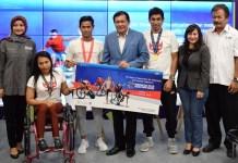 Sejumlah pihak turut memberikan dukungan pada pesta multievent olahraga terbesar bagi para penyandang disabilitas di kawasan Asia, yakni Asian Para Games 2018, salah satunya Citi Indonesia (Citibank), sebagai official sponsor. (Pras/NYSN)