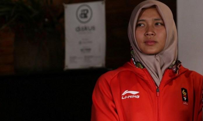 Aries Susanti Rahayu, salah satu atlet panjat tebing andalan Indonesia, diundang secara khusus tampil mengikuti seri kejuaraan panjat tebing di China, pada 21-22 September 2018. (breakingnews.id)