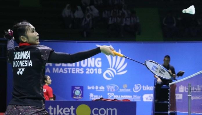 Pemain Pelatnas PBSI Cipayung, Choirunnisa, berjumpa dengan wakil Jepang unggulan satu Minatsu Mitani, di perempat final Indonesia Masters 2018, pada Jumat (21/9). (badmintonindonesia.org)