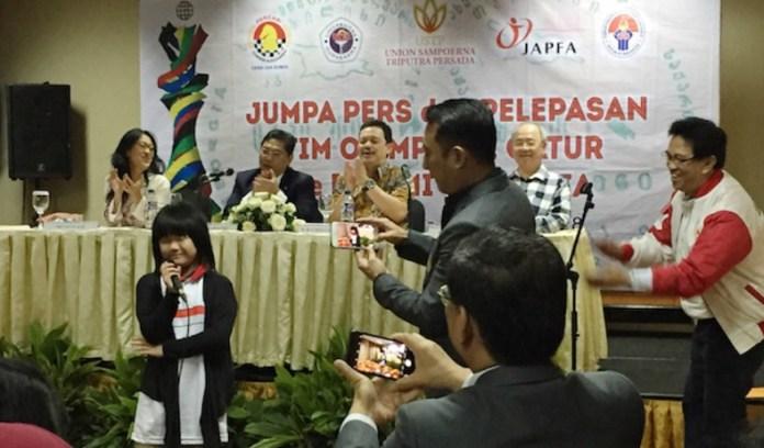 Pecatur termuda tim Indonesia, Samantha Edithso (10 th), akan tampil di Batumi, Georgia, dalam ajang Olimpiade Catur Dunia ke-43. Tim Merah Putih akan bersaing dengan 139 negara lainnya pada event bergengsi itu. (sinarharapan.net)