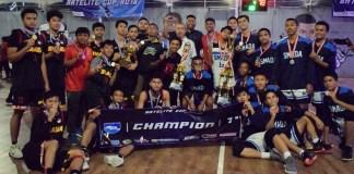 Tim Basket Putra SMA Kharisma Bangsa menjadi kampiun Satelite Cup 2018 Volume 2, yang dihelat di Satelite Basketball Court, Depok, sejak awal September, usai di partai final menaklukan SMAN 2 Depok, dengan skor 78-42. (Riz/NYSN)