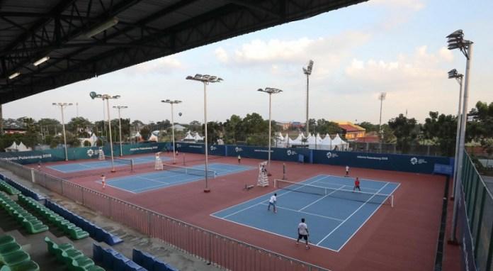 Venue Lapangan Tenis di kawasan komplek Jakabaring Sport Center, Palembang, Sumatra Selatan, bisa segera mulai digunakan atlet binaan PPLP (Pusat Pendidikan dan Latihan Pelajar) dan Sekolah Khusus Olahraga (SKO) Ragunan. (akurat.co)