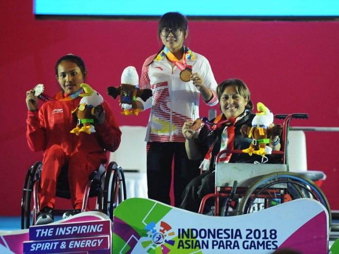 Ni Nengah Widiasih Harus Puas Raih Perak Powerlifting Asian Para Games 2018