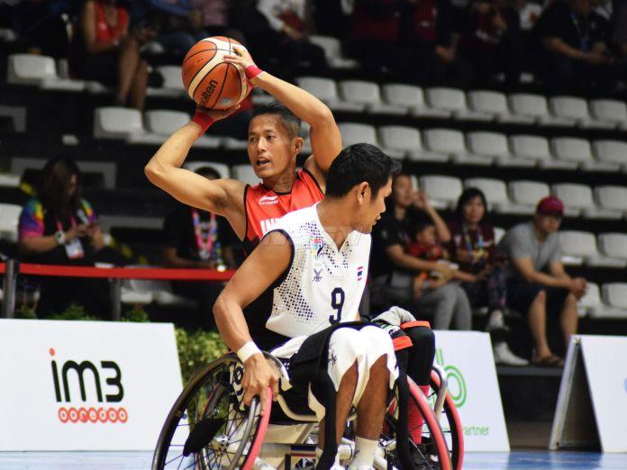 Indonesia vs Thailand di ajang Asian Para Games 2018 (Rizal/NYSN)