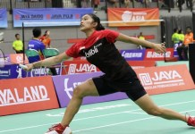 Choirunnisa menyingkirkan wakil Jepang Yuki Suzuki, di Gelanggang Olahraga (GOR) Sudirman, Surabaya, Jawa Timur, pada babak pertama (32 besar) 'Paytren Berkat Abadi Indonesia International Challenge, dengan skor 21-12, 21-19. (PBSI)