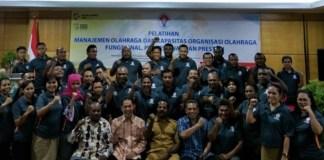 Kemenpora menggelar Pelatihan Manajemen Organisasi Keolahragaan dan Manajemen Penyelenggaraan Multievent Olahraga untuk POPNAS 2019 dan PON 2020 Papua, di Kota Jayapura, pada 16-18 Oktober 2018. (Kemenpora)