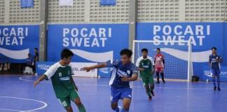 Salah satu pertandingan grand final di event Pocari Sweat Futsal Championship 2018, di GOR Sritex Arena, Solo, Jawa Tengah, pada Minggu (18/11). (Dok. Pocari Sweat)