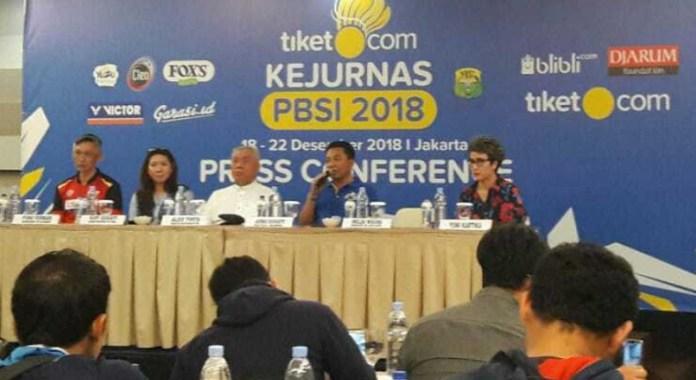 Tiket.com Kejuaraan Nasional (Kejurnas) PBSI 2018 menjadi ajang evaluasi pembinaan atlet, baik pusat dan daerah, sebab Kejuaraan ini merupakan level tertinggi, dan seluruh pemain terbaik yang berasal dari Indonesia, bakal bersaing di event tahunan ini. (Adt/NYSN)