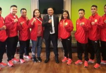 Tim tinju DKI Jaya yang bermaterikan sembilan petinju diantaranya petinju wanita nasional berusia 21 tahun, Novita Sinadia, membidik target dua medali emas dalam Kejuaraan Nasional Tinju Amatir Elite 2018, di GOR Saburai, Bandar Lampung, 5-12 Desember. (Pertina DKI)