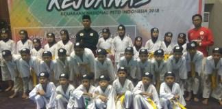 Sebanyak 400 pesilat muda, tampil di Kejuaraan Nasional (kejurnas) Perguruan Pencak Silat Tenaga Dasar (PSTD) 2018, di Padepokan Pencak Silat Taman Mini Indonesia Indah, (TMII), pada 13-16 Desember. (indopos.co.id)