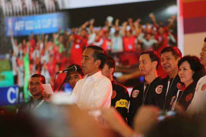 Joko Widodo (Jokowi) meminta para atlet untuk terus berprestasi mengharumkan nama bangsa dan negara di pentas internasional. (Adt/NYSN)