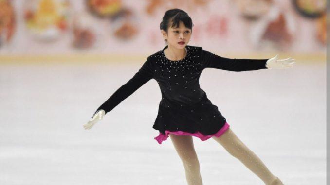 Queendy Shareefa Adhiesty siswi SDI Al Azhar BSD Kelas 5 yang mengikuti kejuaraan Singapore Nations Figure Skating Championship